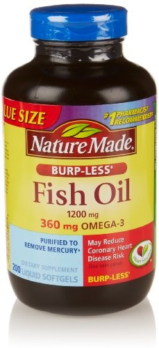 Nature Made Burp-less Fish Oil 1200 mg, 200 Count