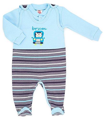 Makoma Baby erstausstattung-Set pagliaccetto unisex con maglia a maniche lunghe (50-74) Brum 68