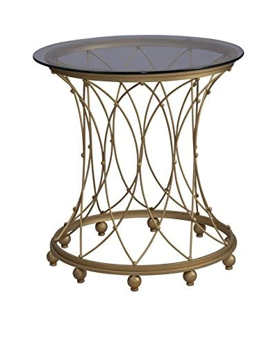 Coast to Coast Round Accent Table, Gold