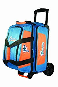 NFL Double Roller Bowling Bag- Miami Dolphins by KR