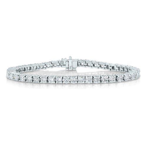 Igi Certified 14K White Gold Diamond Bracelet (2 Ct ; Si2-I1 Clarity) Tennis