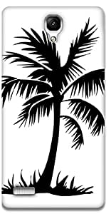 The Racoon Grip printed designer hard back mobile phone case cover for Xiaomi Redmi Note Prime. (Palm Trees)