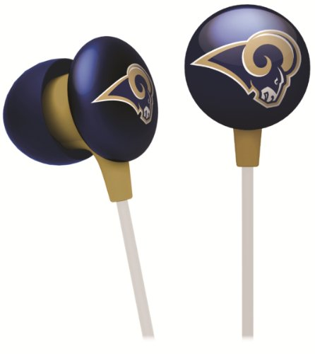 iHip NFF10200STR NFL St. Louis Rams Ear Buds, Blue/Gold at Amazon.com