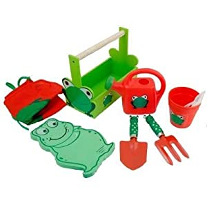 Grow with me deluxe garden tool set green red for Gardening tools 94 game