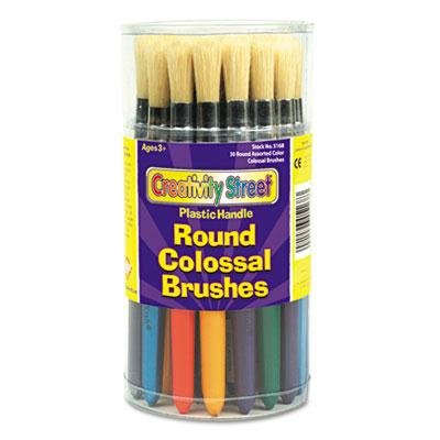 Creativity Street - 2 Pack - Colossal Brush Natural Bristle Round 30/Set Product Category: Crafts & Recreation Room Products/Arts & Crafts Supplies tourism vs creativity