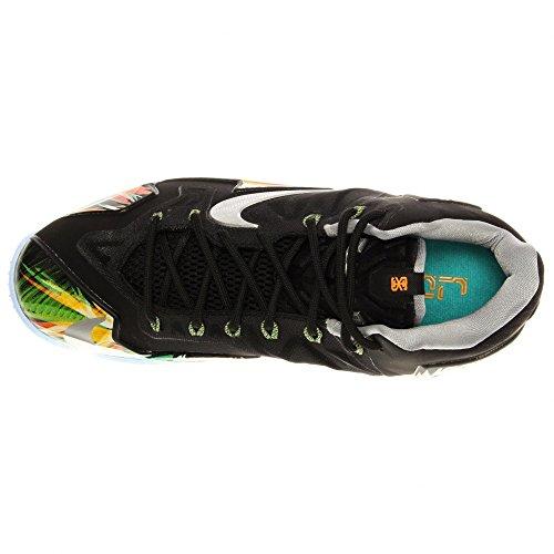 9401fcedbb3 Nike Lebron Xi Black Wolf Grey Atomic Mango