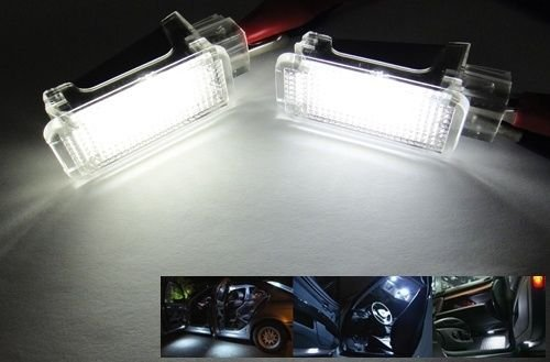 2Pcs Under Door Glove Box Lamp Footwell Courtesy Led Light Fit For Audi A2 A3 S3 A4 B5 B6 B7 B8 S4 B5 B6 B7 B8 Rs4 B5 B7 A5/S5 A6/S6 C5 C6 Rs6 A8/S8 D2 D3 D4 Q5 Q7 Tt R8