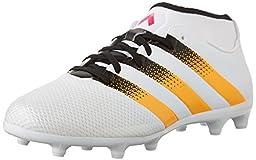 adidas Performance Women\'s Ace 16.3 Primemesh FG/AG W Soccer Shoe,White/Gold/Shock Pink,6.5 M US