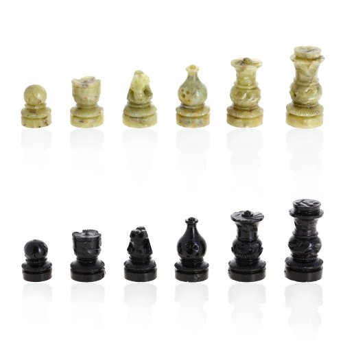 ShalinIndia Rajasthan Stone Art Unique Chess Sets and Board -Indian Handmade Unique Gifts -Size 8X8 Inches 5
