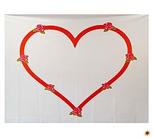 hochzeitsherz bettlaken herz zum ausschneiden rosen. Black Bedroom Furniture Sets. Home Design Ideas