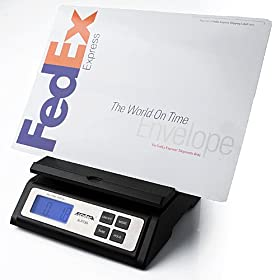Accuteck A-ST85LB Heavy Duty Postal Shipping Scale with Extra Large Display, Batteries and AC Adapter