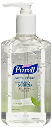 PURELL 3691-12 Green Certified Instant Hand Sanitizer, 12 fl oz Bottle (Case of 12)