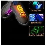 Orange LED Shoelaces Light up Shoe Laces
