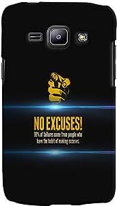 PrintVisa Quotes Attitude Case Cover for Samsung Galaxy J1