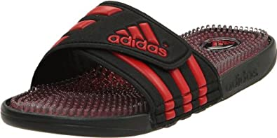 adidas Men's Adissage Fade Sandal,Black/University Red/Black,12 D US