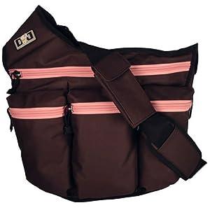 Diva Messenger Diaper Bag in Brown and Pink