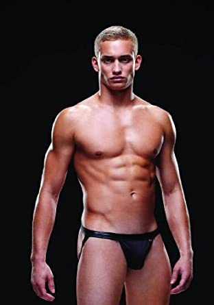 Baci Envy Men's Bare Back Athletic Jock, Black, Small/Medium