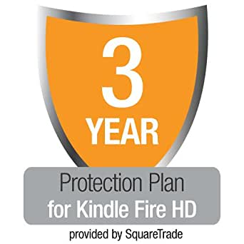 3-Year Kindle Fire HD (Previous Generation) Protection Plan with Accident & Theft Cover by SquareTrade, UK customers only