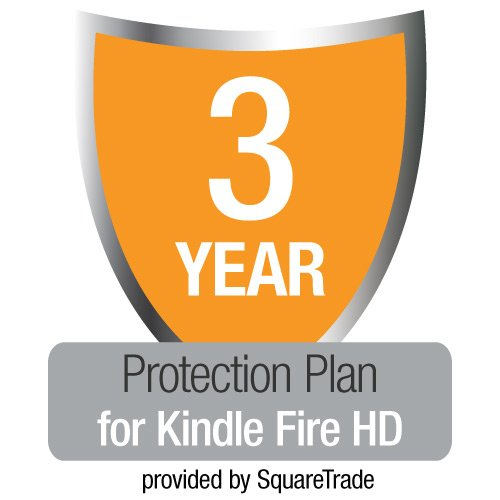3-Year SquareTrade Warranty + Accident Protection & Theft Cover for Kindle Fire HD (16GB and 32 GB), UK customers only