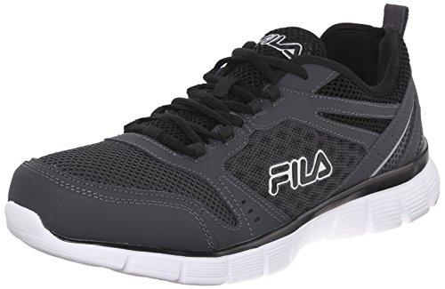 Fila Men's Memory Deluxe SE-M Running Shoe, Castlerock/Castlerock/Black, 13 M US