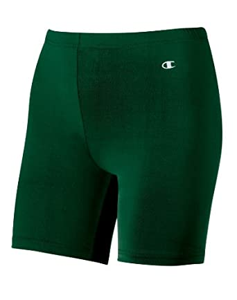 Champion Double Dry® Women's Compression Shorts, Youth M-Athletic Dark Green