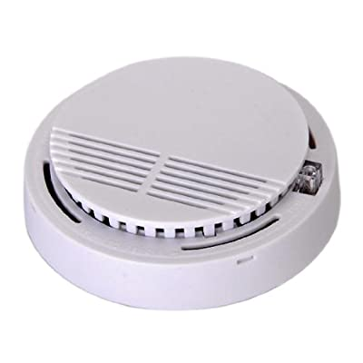 SODIAL(R) White Home Security System Photoelectric Wireless Smoke Detector Fire Alarm by SODIAL(R)
