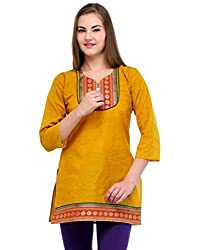 Ambitione Green Colored Sweet Heart Kurti_XL