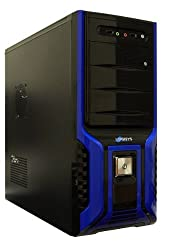 Logisys Corp. 368 SOHO Case with 480W Power Supply Cases CS368BB, Black and Blue
