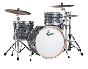 Gretsch New Renown Maple 3-Piece Euro Drum Set Shell Pack - Silver Oyster Pearl