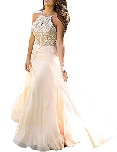 LovingDress-Womens-Prom-Dresses-Chiffon-with-Straps-Beaded-Bodice-Evening-Dress