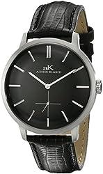 Adee Kaye Men's AK2225-M/BK Classique Analog Display Japanese Quartz Black Watch