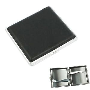 SODIAL(R) Portasigarette in metallo e ecopelle con pulsante nero   recensione