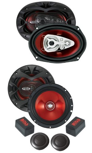 "New Boss Ch6Ck+Ch6950 6.5""+6X9"" Car Speakers Package"