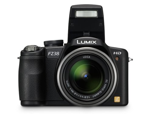 Panasonic Lumix DMC-FZ38EB-K Digital Camera - Black (12.1MP, 18 x Optical Zoom) 2.7 inch LCD