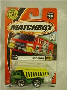 Matchbox Dirt Hauler Dump Truck Build It Tough! #18 Green & Yellow