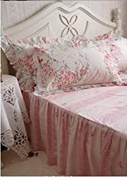 Shabby and Elegant New Pink Bedding Matching Cotton Pillowcase