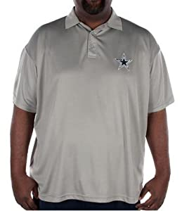 Dallas Cowboys Mens Big and Tall Pebble Tech Polo by DCM