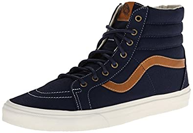 Buy Vans Mens Sk8-Hi Reissue Coated Canvas Hi Top Sneaker by Vans