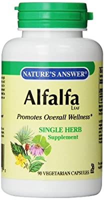 Nature's Alfalfa Leaf Vegetarian Capsules, 90-Count