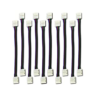 ZITRADES 10Pcs LED Strip Light 5050 RGB strip Connector for Conductor 10 to 12 mm Strip to Strip Jumper led strip connector