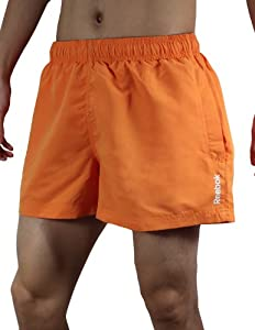 Reebok Mens High Performance Athletic Sports Shorts with Brief Lining XL Orange