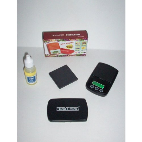 Gold Testing Kit: Test Stone, Acid, and mini Troy Ounce Scale