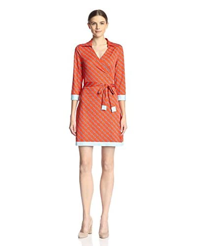 JB by Julie Brown Women's Milo Printed Wrap Dress