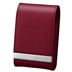Sony LCS-THM Soft Carry Case in Genuine Leather For T Series - Red