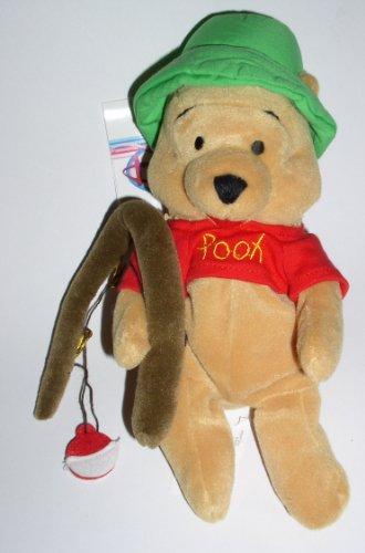 Disney Store Winnie the Pooh Bean Bag-Fishing Pooh - 1