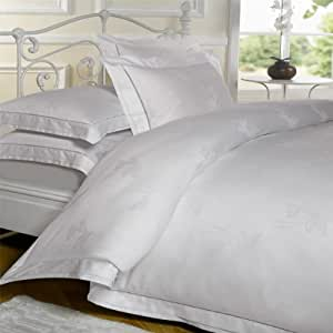 Emma Barclay Bedding Butterfly Dreams Duvet Cover Set 100% Cotton Percale 300 Thread Count, White, King