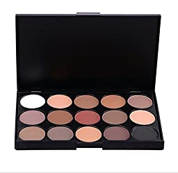 Brand New Fashion 15 Earth Color Matte Pigment Glitter Eyeshadow Palette Cosmetic Makeup Set Nude Eye Shadow palettes