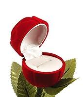 Meenaz Velvet Red Rose Ring Box for Women,Girls (Gift, Engagement) Single Box without Ring