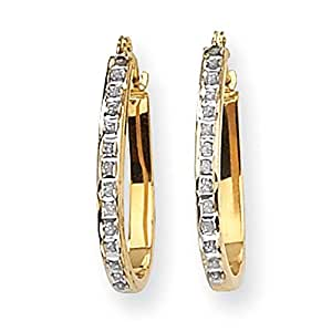 Gift and Jewels - Boucles d'oreilles or jaune 14 carat - Largeur 2.5.00mm