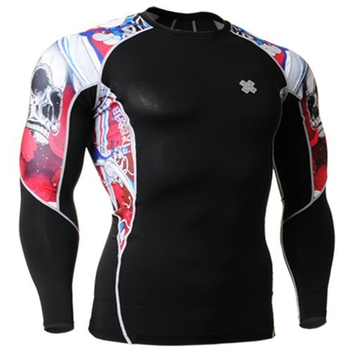 Fixgear Sports Mens Womens Compression Gear Gym Exercise Tee Shirt S - 4XL